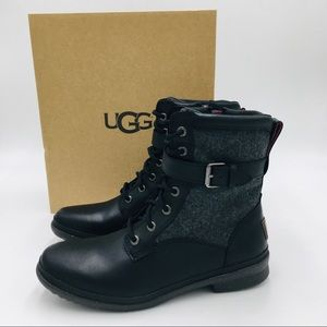 UGG Kelsey Black lace Up Women's Boots